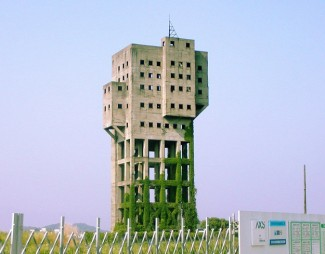 The Winding Tower Shime Coal Mine in Japan